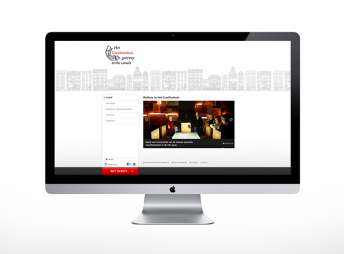Het Grachtenhuis website
